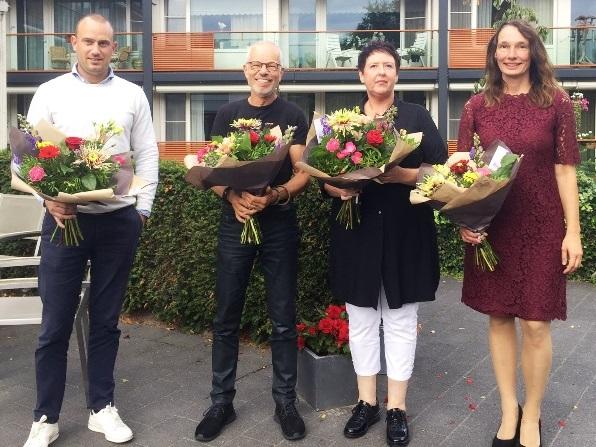 Sprekers Toekomstbestendig Wonen 2019: Francois van Bemmel, Rob van den Broek, Monique Baijens en Yvonne Witter (v.l.n.r.)